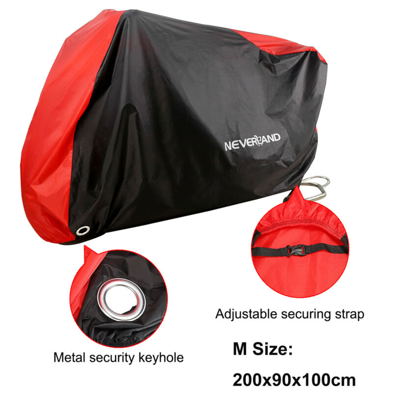 M Waterproof Motorcycle Bike Cover Scooter Moped Outdoor Dust Rain UV Protector