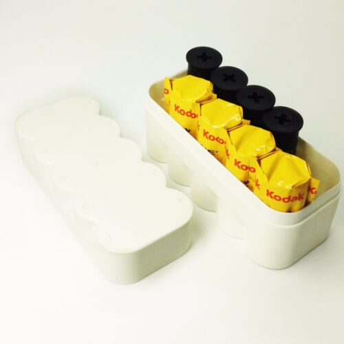 120 film storage Plastic Hard case box for 10 rolls  White without film