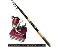 Angelset Angelrute Jaxon Zaffira 2,70m 5-25g Angelrolle Match RD30 mit Schnur