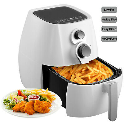 Electric 3.5l No Oil Air Fryer Temperature Control Timer With 6 Cooking Presets