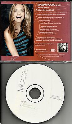 Mandy Moore Crush 2Trx W  Rare Remix W Promo Radio Dj Cd Single 2001