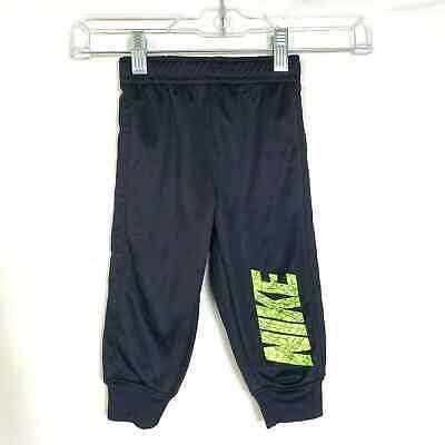 Nike 18M Dri-Fit Black Joggers Neon Logo