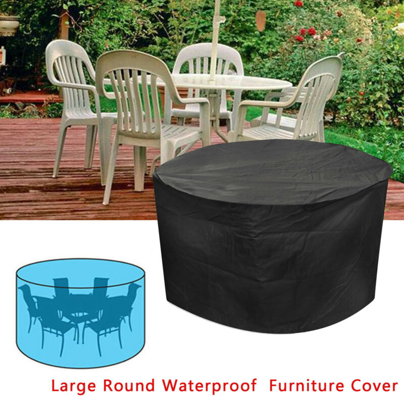 Large Rattan Garden Furniture Cover Patio Day Bed Outdoor Round