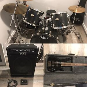 Drums, Bass and Amp