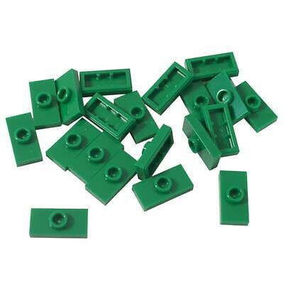 20 NEW LEGO Plate,Modified 1 x 2, 1 Stud , Groove and Bottom Stud Holder  Green