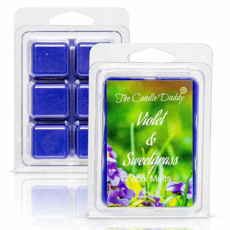 Violet and Sweetgrass -  Wildflower and Fresh Cut Grass Scented Melt- Maximum Sc