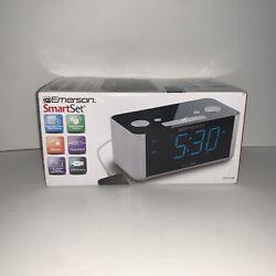 Emerson CKS1708 Smart Set Radio Alarm Clock-Gray