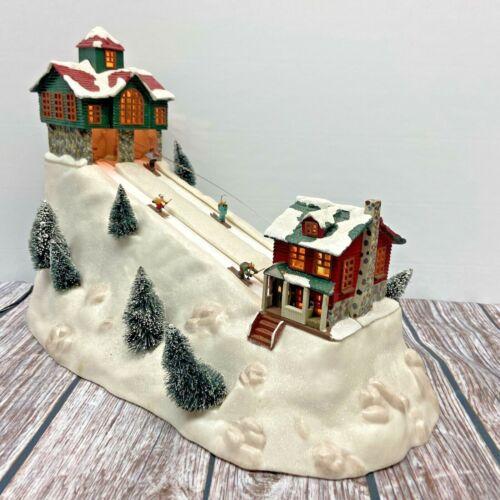Mr.Christmas Village Collection St.Nicolas Ski Hill-Sisal Tree Battery & DC 6V