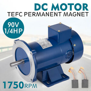 DC MOTOR 1/4HP 56C Frame 90V/1750RPM TEFC MAGNET Smooth Equipment Permanent