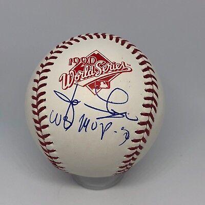 Jose Rijo signed Rawlings 1990 Official World Series Baseball JSA Reds MVP A151