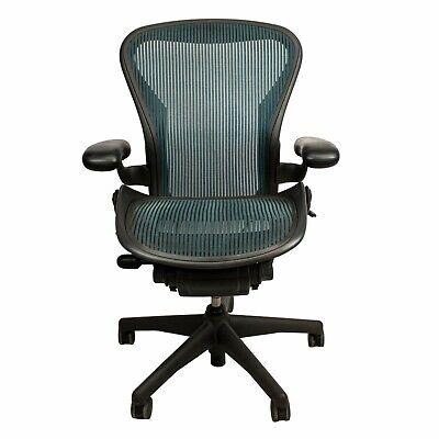 Herman Miller Aeron Task Chair B- Fixed Arms - Teal Mesh -used