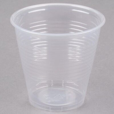 500 PACK! Disposable Clear Plastic Cups 5 oz Cafeteria Party Drinking Cup - 5 Oz Cups