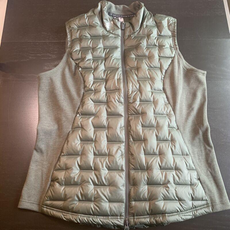 Adidas Women's Frostguard Insulated Vest Size XL Green MSRP $150 DZ6419 NWT