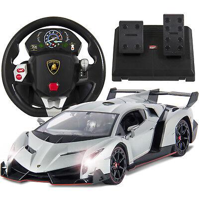 BCP 1/14 RC Lamborghini Veneno w/ Wheel Remote - Silver