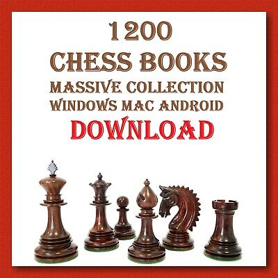 1200 CHESS BOOKS MASSIVE COLLECTION DOWNLOAD PDF. BEST ON EBAY.-