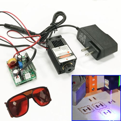 Focusable 450nm 2.5W Blue Laser Module TTL Carving/Burning/Engraning Gift Goggle