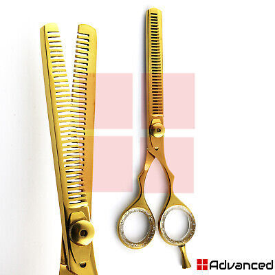 professional double sided thinning scissors 6 gold