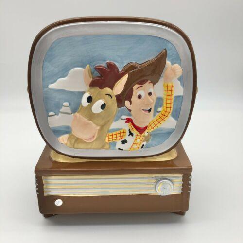 Disney Pixar Toy Story TV Cookie Jar Woody Bullseye Ceramic