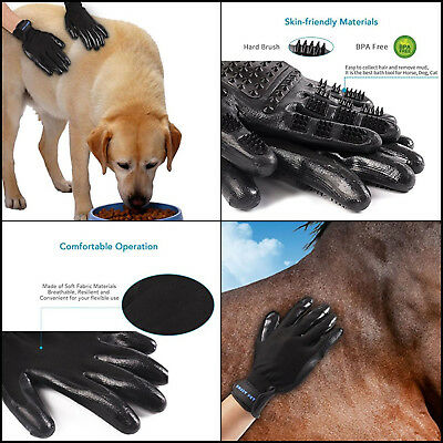 Pet Hair Remover Grooming Gloves Pet Brush Bathing Shedding For Dog Cat Horse