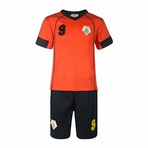 BOYS-FOOTBALL-KIT-SHORT-SET-NETHERLANDS-BLACK-ORANGE-2-10years-BNWT-NEDERLAND