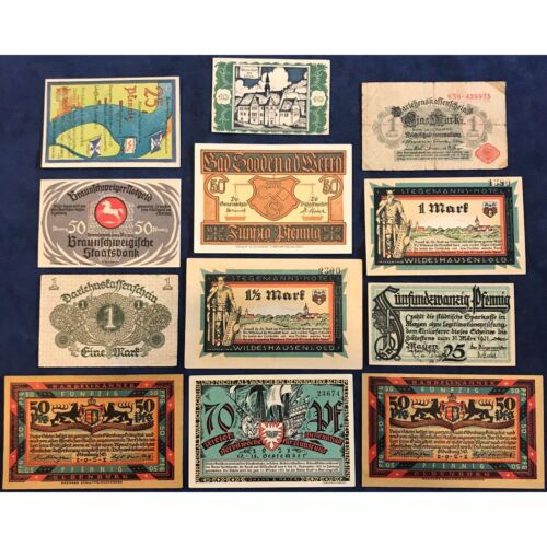 German Small Denomination Notgeld Variety Collection - Free Shipping USA
