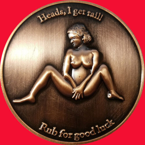 """2"""" Sitting Pretty Nudie Challenge coin/card marker Texas Hold em t  29"""
