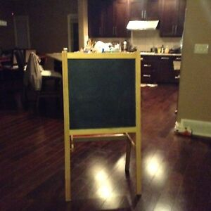 Children's Ikea double sided white and chalk board