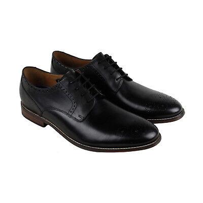Clarks Ensboro Plain Mens Black Leather Casual Dress Lace Up Oxfords Shoes