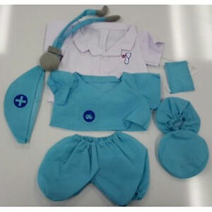 Teddy-Bear-DOCTOR-Costume-CLOTHES-Fit-14-18-Build-a-bear-NEW