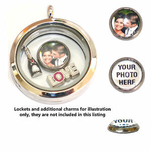 PERSONALISED-photo-charm-for-living-memory-and-floating-charm-lockets-2-sizes