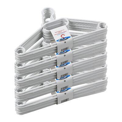 50x Kleiderbügel Wäschebügel Kunststoff Hosensteg Hosenstange Anti Rutsch Rillen