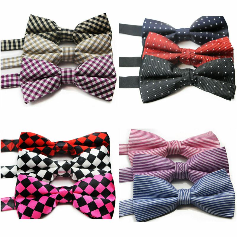 Mens Sexy Pattern Pre-tied Bow Tie Men