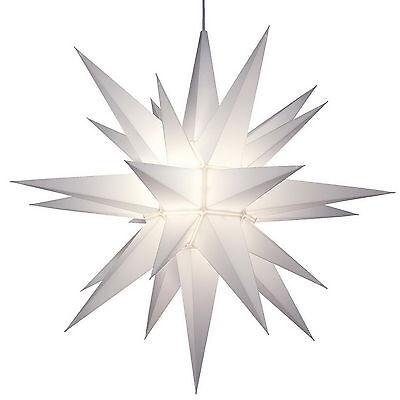 "NEW Big 21"" Hanging Christmas Light White Star of Bethlehem 26 Point Decoration"