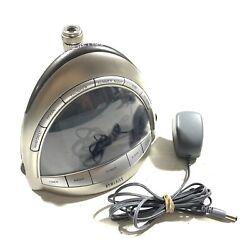 Homedics SS-5010 Alarm Clock AM/FM Radio Nature Sounds Projector Tested FR/SHP