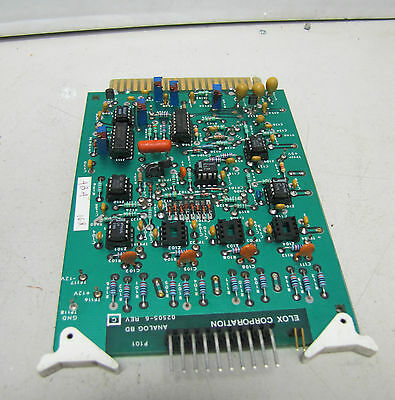 Elox Corporation Analog Circuit Board Card 02505-6 025056 Rev C