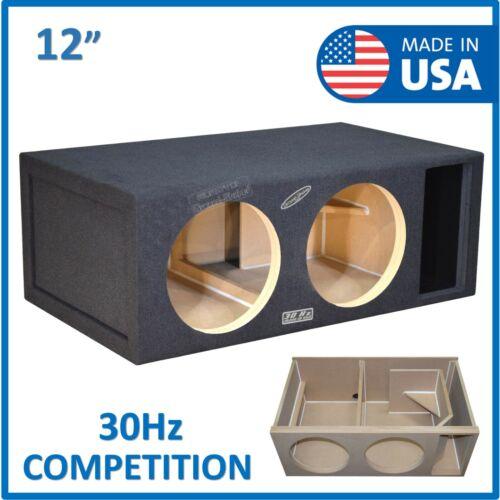 "Dual 12"" Competition Ported Sub Box Subwoofer Enclosure 12"" Vented Sub Box"