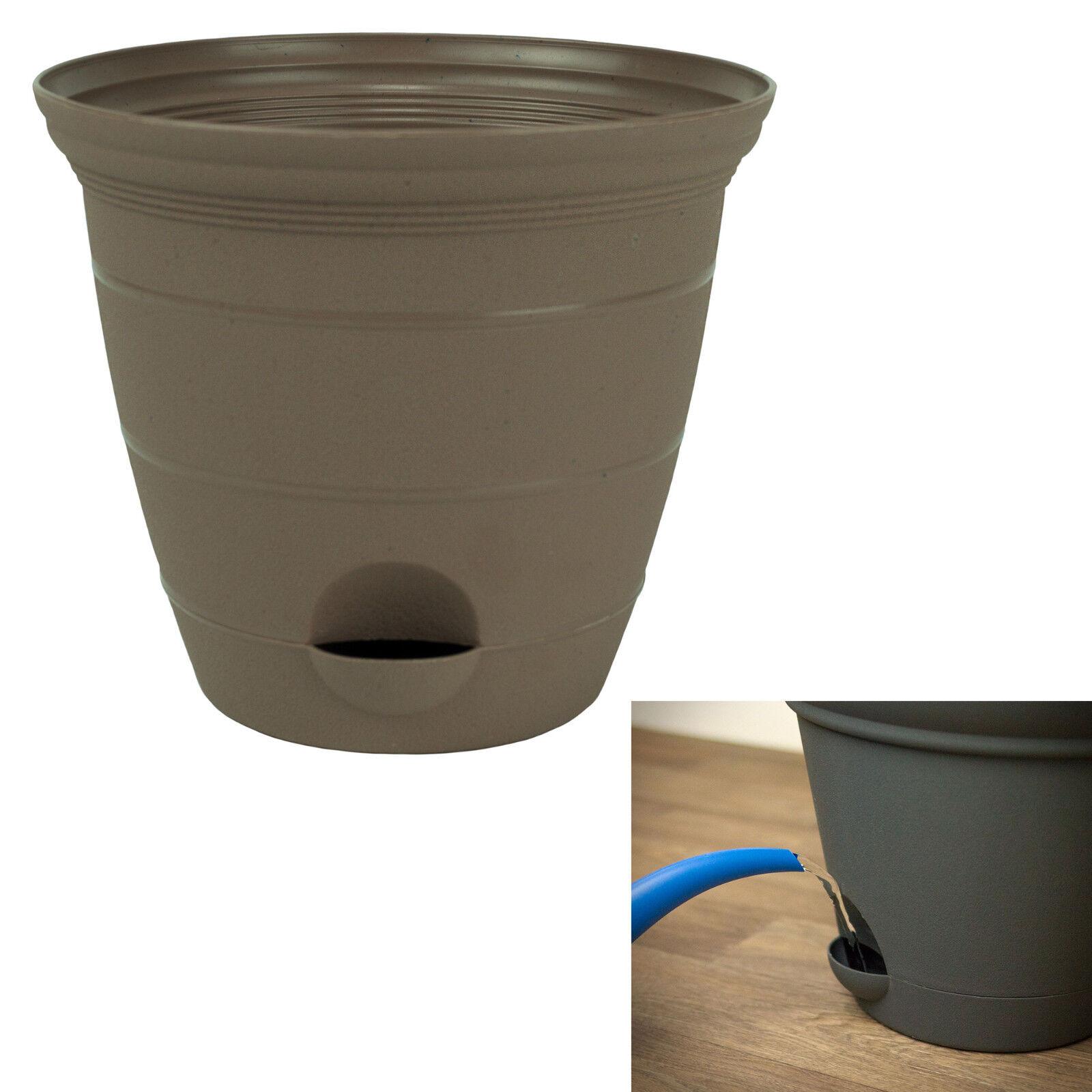 sandalwood plastic self watering flower plant pot