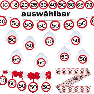 11 tlg. Deko Set 16.18.20.25.30.40.50.60.65.70. Geburtstag Verkehrsschild Party  70