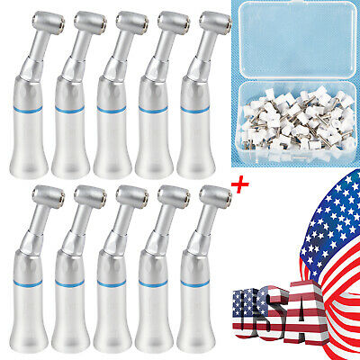 10 Dental Slow Low Speed Contra Angle Handpiece Pad 100polishing Prophy Cups