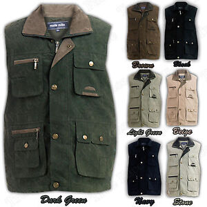 Mens-Body-Warmer-Waistcoat-Safari-Gilet-Jacket-Shooting-Fishing-Hunting-Hiking