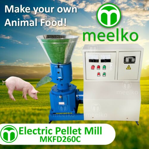"PELLET MILL 15kw 10"" DIE 3 PHASE STOCK USA (6mm special for pork food)"