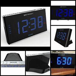 1.8 LED Display Sound Therapy Alarm Clock Radio With White Noise Nature Sounds