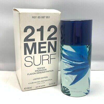 Carolina Herrera 212 Men Surf Limited Edition EDT 100ml/3.4fl.oz. New In Tst Box