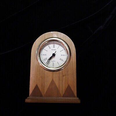 Acctim quartz clock multi coloured wood case mantle clock 7