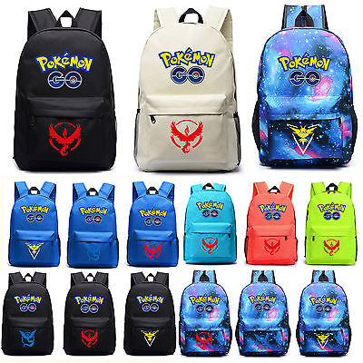 Pokemon Gengar Face Luminous Galaxy Shoulder Bag Backpack School Travel Bookbag - Pokemon Bookbag