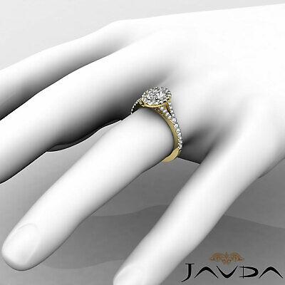 Halo Oval Natural Diamond Engagement Split Shank Prong Ring GIA F VVS2 1.21 Ct 11