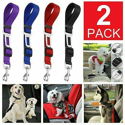2 Pack Cat Dog Pet Safety Seat belt Clip for Car Vehicle Adjustable Harness Lead Dog Supplies