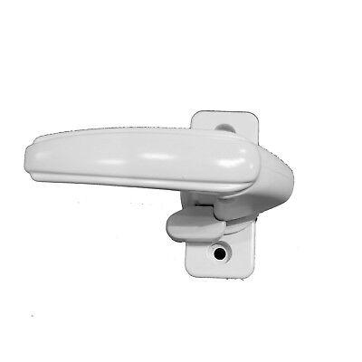 Storm Door Inside Handle White IR-IH-1-TL- With Thumb Lock-Turn Handle