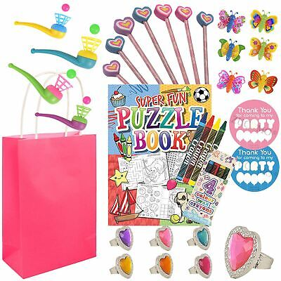 Pre Filled Girls Personalised Goodie Loot Party Bags Favors For Kids