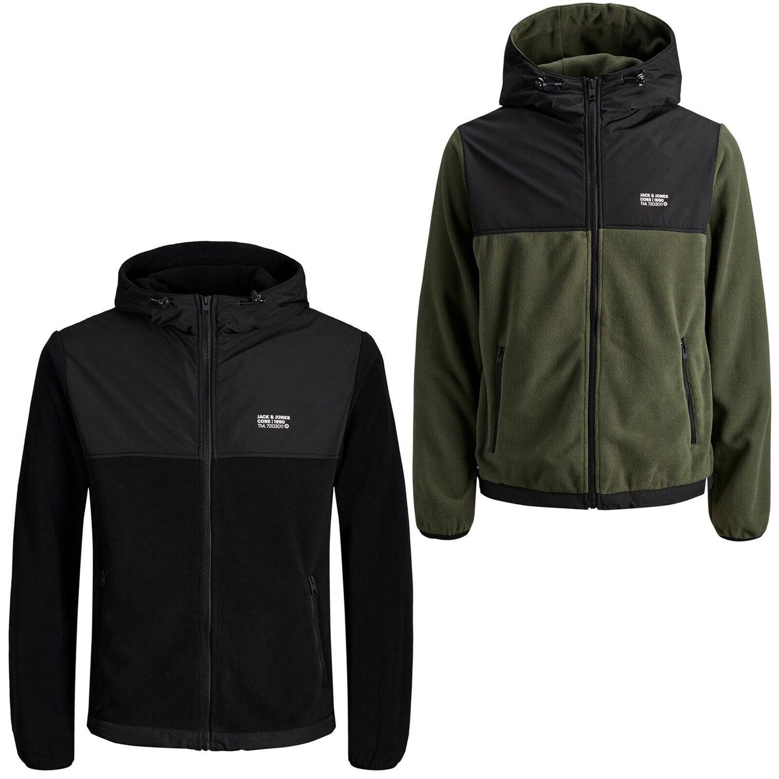 Jack /& Jones Core Hoodie Mens Chest Print Logo Hooded Sweater Jumper jcomario